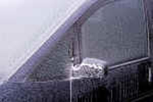 iced over windows